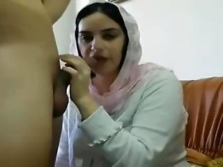 Muslim Girl Takes Black Dick In Mouth In Camera