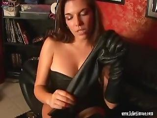 Mistress And Her Black Leather Gloves