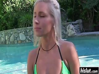 blondynka, wytrysk, cipa, twarz, hardcore, gwiazda porno, małe cycki, mokra