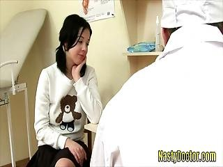 Super Hot Teen With Natural Big Tits Gets Her Teen Pussy Banged Hard By Her Doctors Big Cock