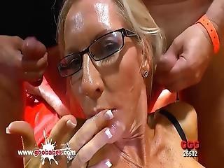 sperma, sperma verschmiert, ladung, gangbang, deutsch, harter porno, sexy, milf, hübsch