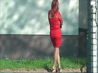 Candid Pervert #24 (red Dress)