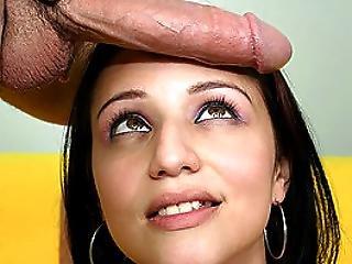 Waif Like Latina Fucks Big Pole