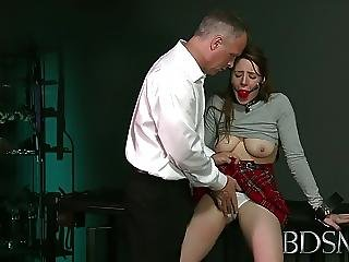 Bdsm Xxx Ball Gagged Submissive Girls Ass Plugged And Fucked