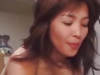 Japanilainen, Milf, äiti, Seksi, Sperma, Nuori