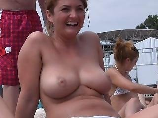 Big Tits Nude At The Beach