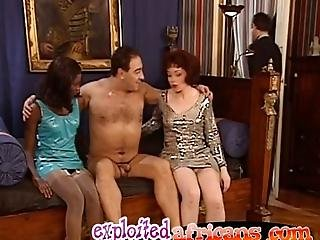 African Sluts Creep Up Upon Dude Who Is Sleeping But Theyre So Horny They Wake Him Up And Seduce Him Into A Pussy Pounding Threesome