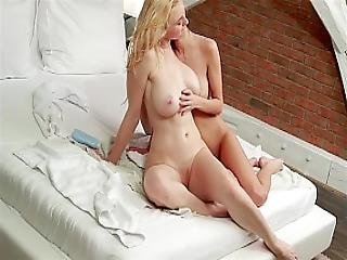 Busty Micha And Cute Sarah In Lesbian Games In Sensual Massage Blond Brownhair