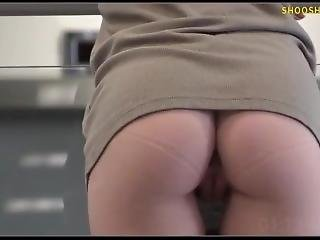 Hot Blonde - Upskirt, No Panties - In Public