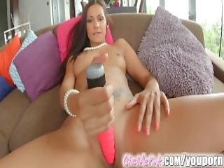 Give Me Pink Exotic Beauty Playing With Her Wet Pussy