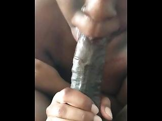 Chanell Swallows Long Black Dick Until It Nuts