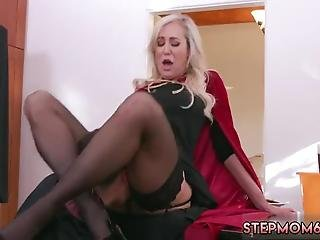 Mom Creampie Compilation Halloween Special With A Threesome
