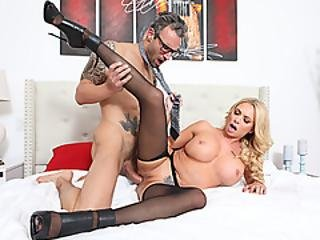 Milf Nympho Riding Her Husbands Cock Before He Goes To Work