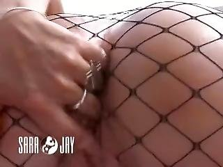 Sara Jay In Fishnets Gets Hot And Wet Under The Sun
