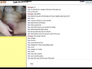 Omegle Submissive Girl With Hairbrush