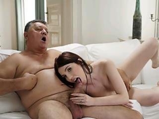 Horny Old Man Bangs Wifes Teen Stepdauther