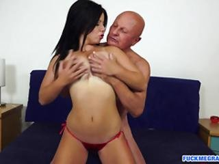 Busty Teen Is This Horny Grandpas Treat