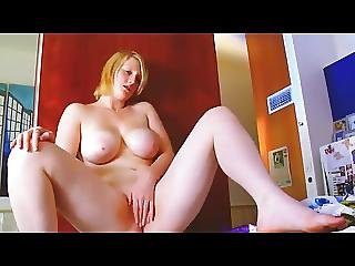 Delicious Chubby Blonde Teen Masturbating Wet Pink Pussy