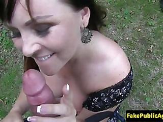 Bigtitted Amateur Pulled Outdoors And Sucks