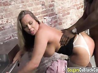 Milf Blonde Prosecutor Banging Big Black Dick At Prison