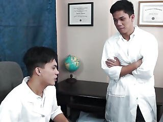 Perverted Oriental Twink Doctors Bareback Fuck