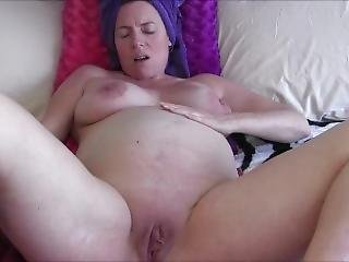Hot Pregnant Teen Showers And Masturbates