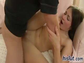 Petite Kaylee Has Her Tight Pussy Plowed