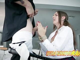 Long Fat Cock Disappears In Hot Teen