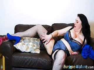 Europemature Busty Lady Sexy Underwear And Fun