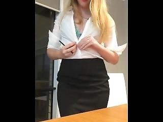 blondin, sekreterare, sexig, solo, retar, Tonåring