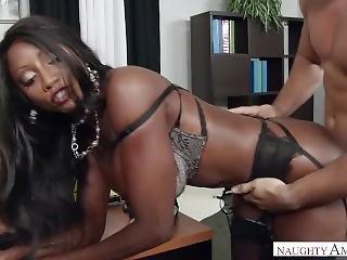 Ebony Milf Diamond Jackson Foot Fetish In The Office