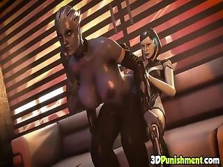 Horny Beautiful 3d Slutty Babe Rides Cowgirl Style This Hard Dick Of Futanari Babe