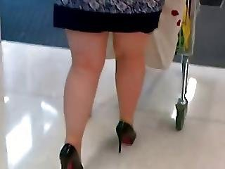 Flashing Stocking Tops Out Shopping