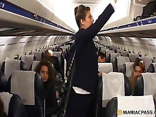Two Flight Attendants Seduce Pilot