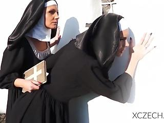 Crazy Porn With Catholic Nuns And Monster