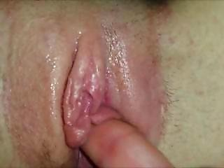 Shaved Pussy Getting Fingered - Closeup