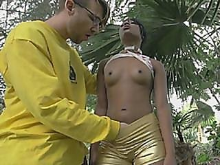 Fine Black Girl Fucked Roughly In Interracial Action