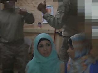 Two Arab Chics And Us Soldiers