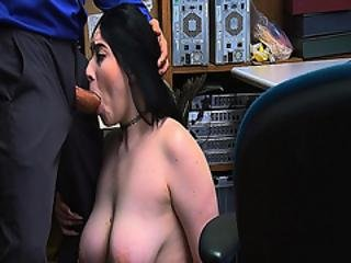 Black Haired Teen Goes Down On Her Knees And Suck The Lp Officer