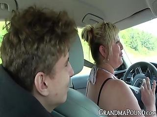 How Could Have These Hot Grannies Just Started Fucking That Young Men Right There On The Road?! Their Thirst For Cock Might Be Too Strong!