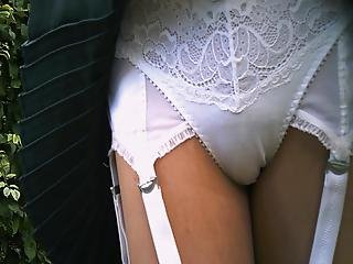 Panties uniform closeup monster cock