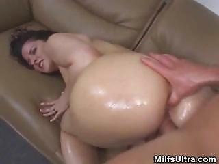 肛門の, おまんこ, 大きなおまんこ, 成熟した, 熟女, 油を塗った