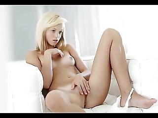 Russian Teen Blonde Masturbates Solo