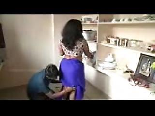 Beautiful House Wife Romance With Neighbor Young Boy - Latest Kitchen Romance