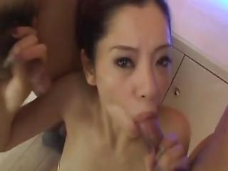 asiatique, bikini, pipe, sperme, sperme dans la bouche, deepthroat, double pipe, japonaise, lingerie, vieux, suce, uniforme
