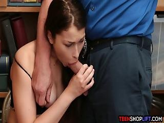 Teen Thief Busted By A Dirty And Corrupted Security Guard