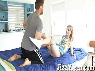 Adorable Schoolgirl Kelly Klass Pussy Filled Up With Jizz