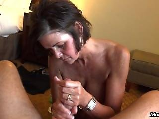 Southern Milf Gets Cum On Face