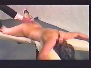 Spreadeagled Belt Spanking