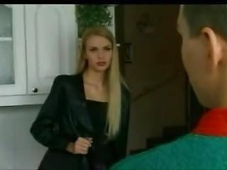 (g) Classy Tall Blonde Fucks In The Kitchen
